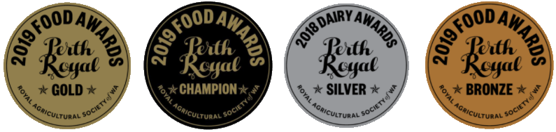 Royal Dairy Food Awards - All Medals Transparent (The Butter People)